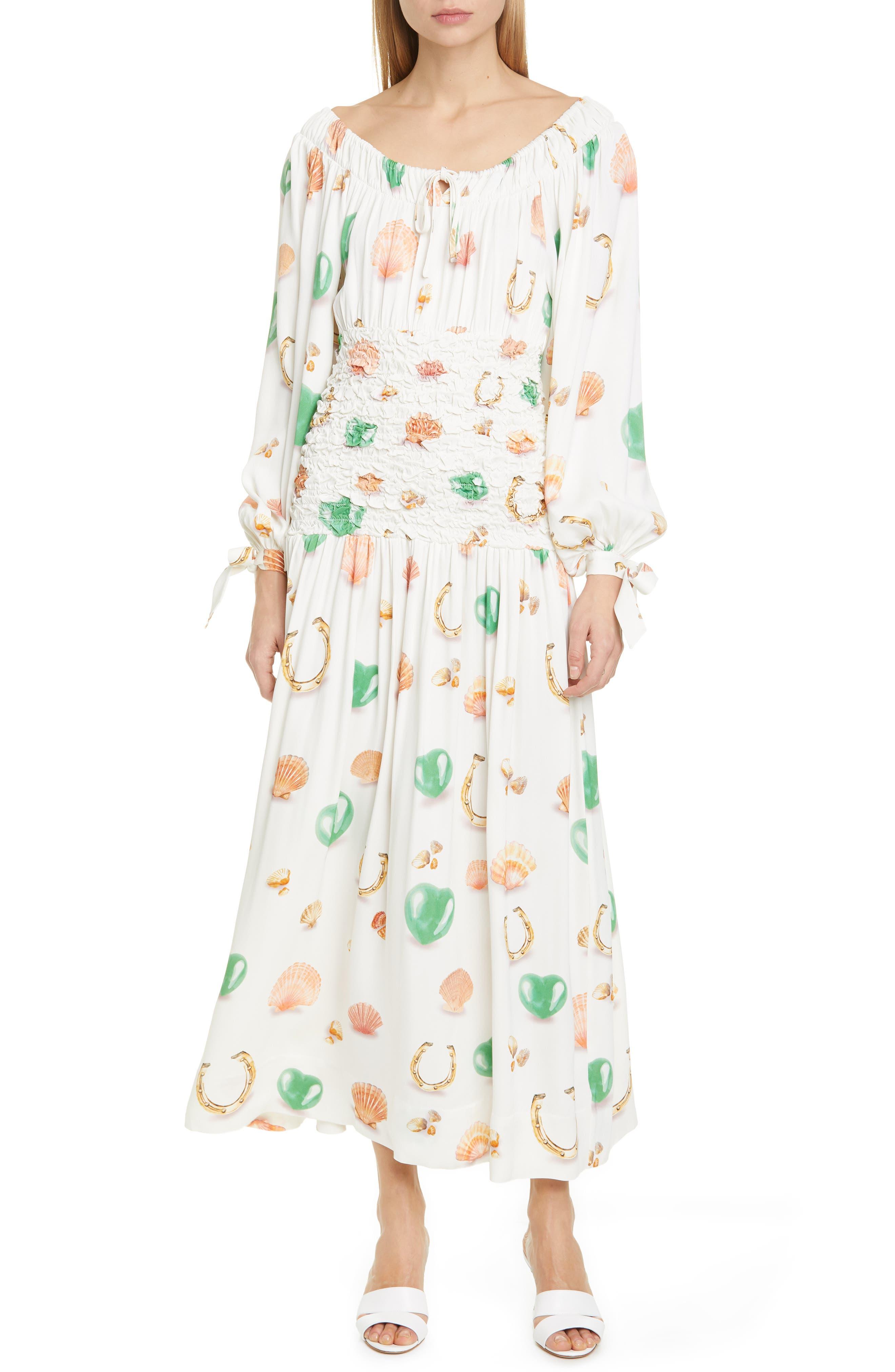 Saks Potts Mamasita Smocked Long Sleeve Midi Dress | Nordstrom