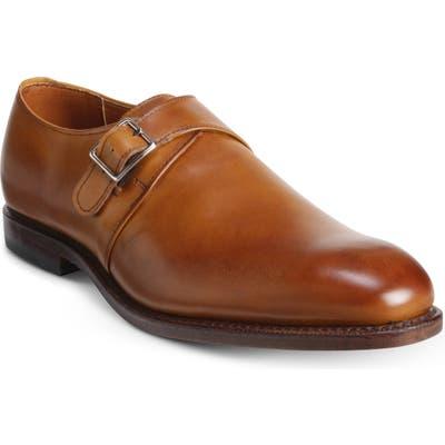 Allen Edmonds Plymouth Monk Strap Shoe, Brown