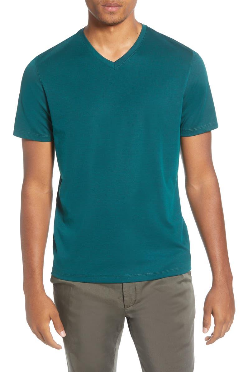 ZACHARY PRELL Brookville Regular Fit Piqué T-Shirt, Main, color, EMERALD