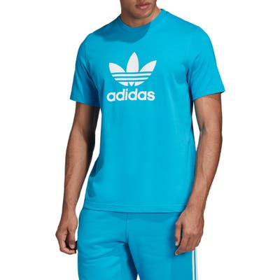 Adidas Originals Trefoil Graphic T-Shirt, Blue