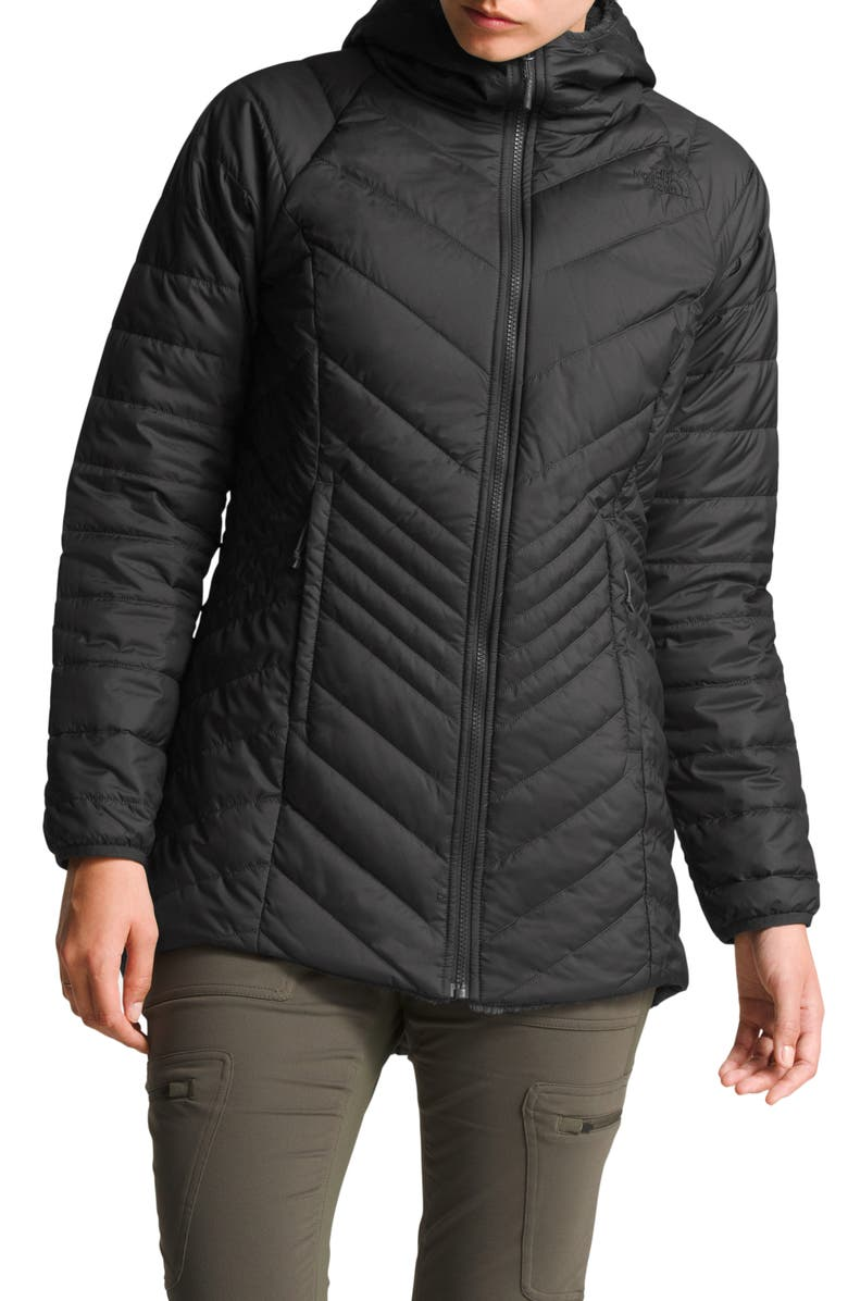 THE NORTH FACE Mossbud Reversible Insulated Parka, Main, color, ASPHALT GREY
