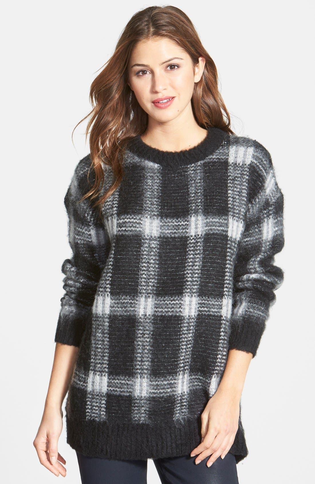 ,                             Plaid Crewneck Sweater,                             Main thumbnail 6, color,                             036