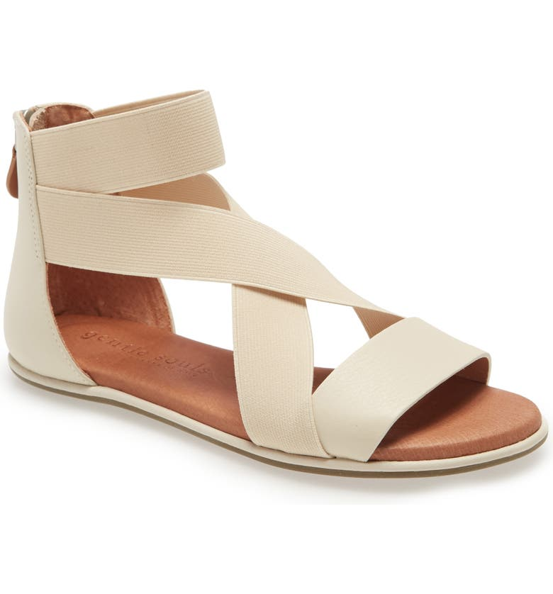 GENTLE SOULS BY KENNETH COLE Break Sandal, Main, color, STONE LEATHER