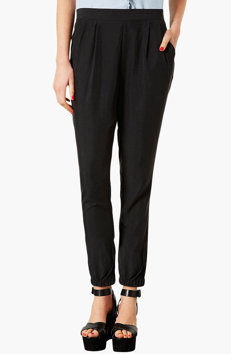 TOPSHOP Relaxed Pants, Main, color, 001