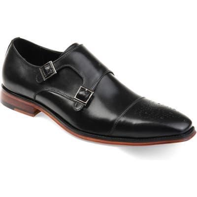 Thomas And Vine Rockwell Double Strap Cap Toe Monk Shoe