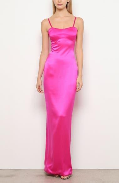 Bustier Silk Satin Column Gown, video thumbnail