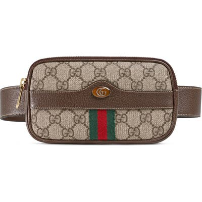 Gucci Small Canvas Belt Bag - Beige