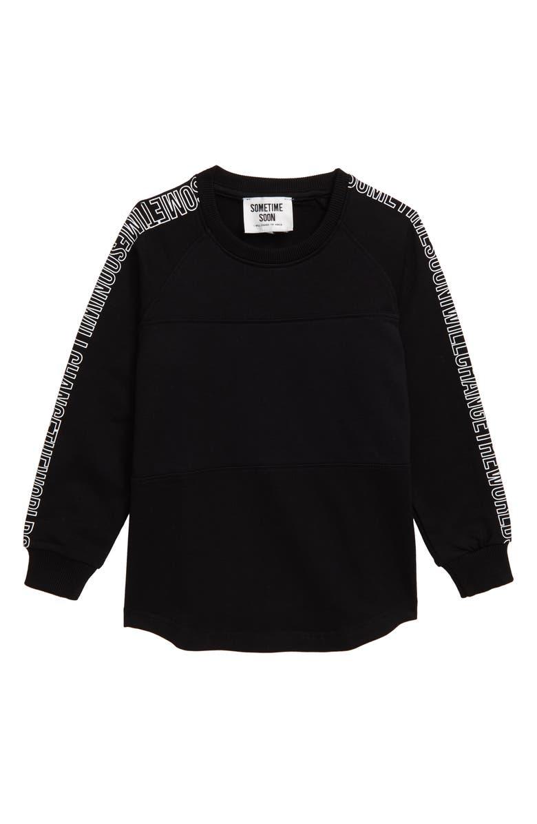 SOMETIME SOON Zuma Sweatshirt, Main, color, BLACK