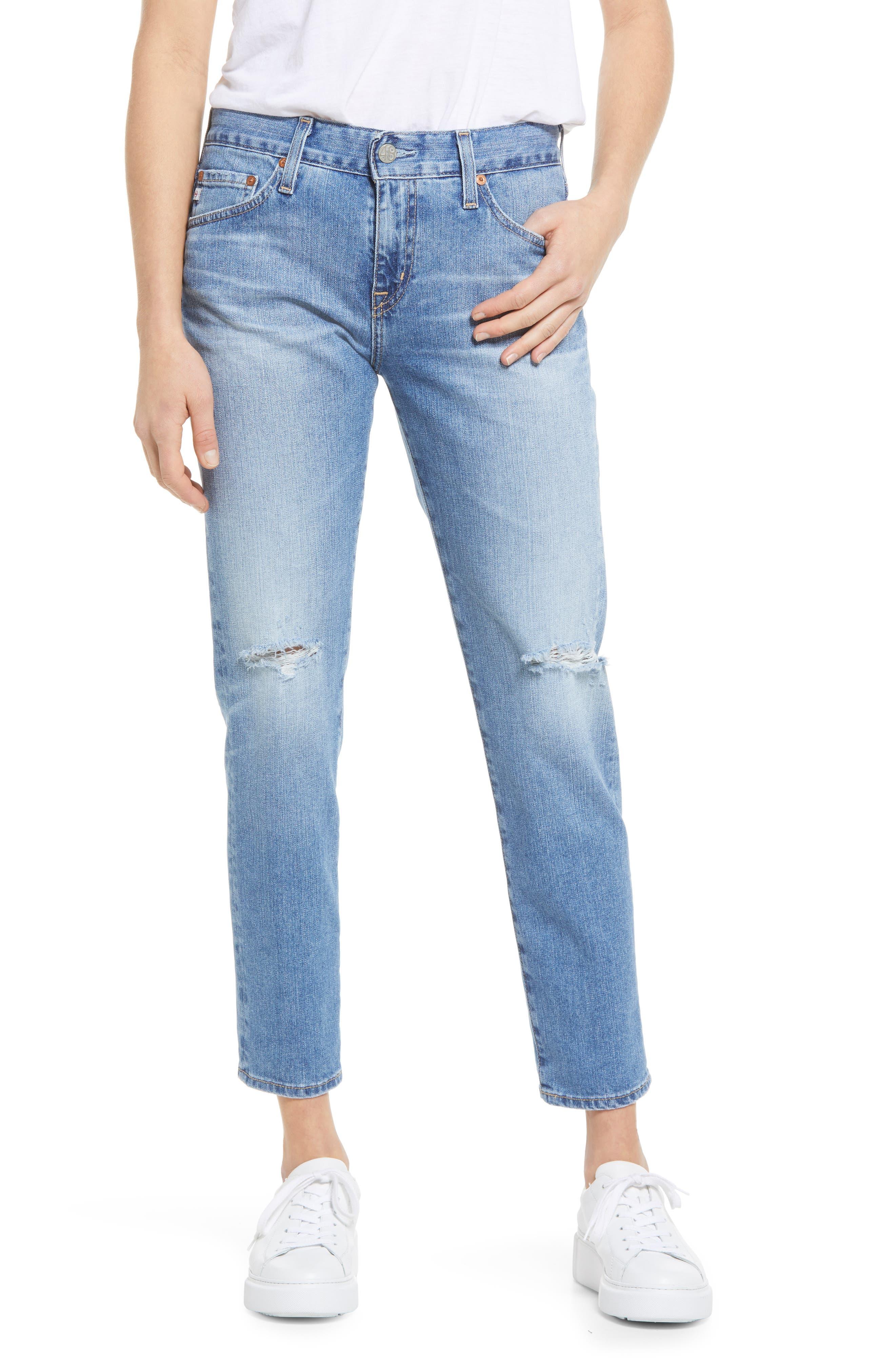 Ex-Boyfriend Distressed Slim Fit Jeans