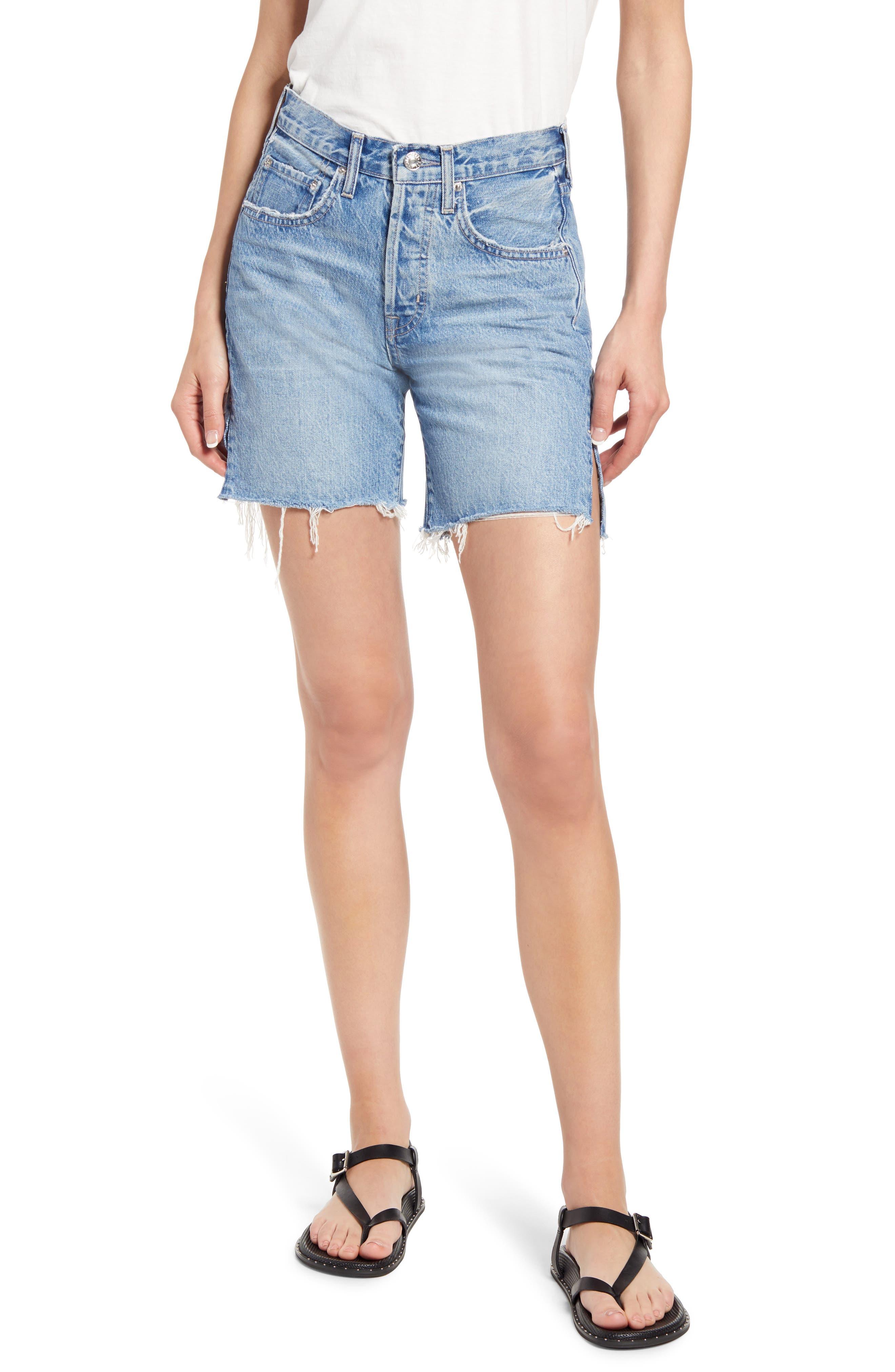 Cai High Waist Cutoff Denim Shorts