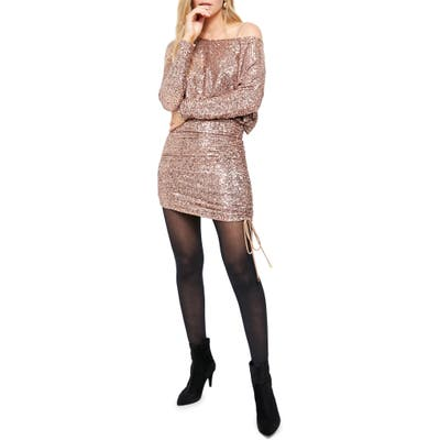 Free People Giselle Sequin Minidress, Pink
