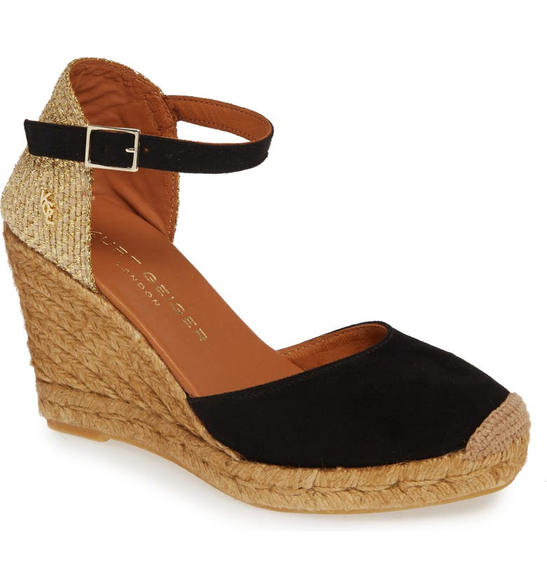 KURT GEIGER LONDON Monty Espadrille Wedge, Main, color, 002