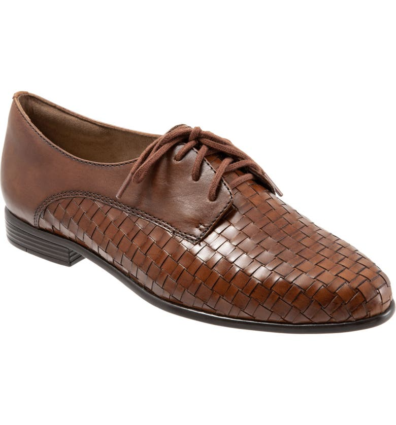TROTTERS Lizzie Derby Flat, Main, color, COGNAC LEATHER