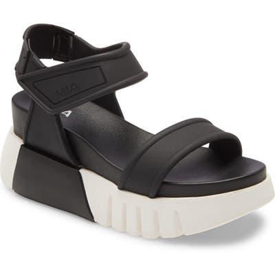 Mia Zita Platform Wedge Sandal- Black