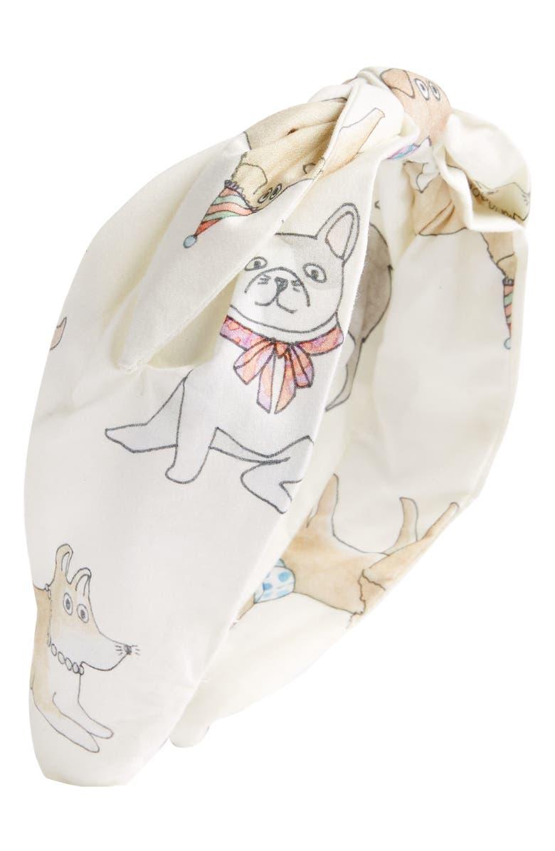 CJW Puppy Love Headband, Main, color, CREAM