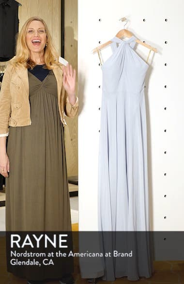 Halle Halter Evening Dress, sales video thumbnail