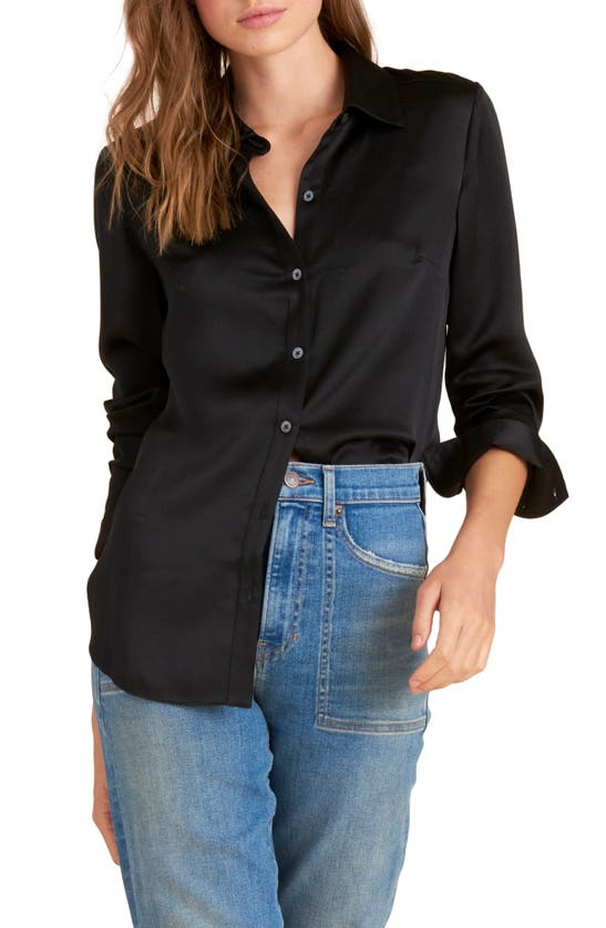 VERONICA BEARD Silks MORGANE SILK BUTTON-UP SHIRT