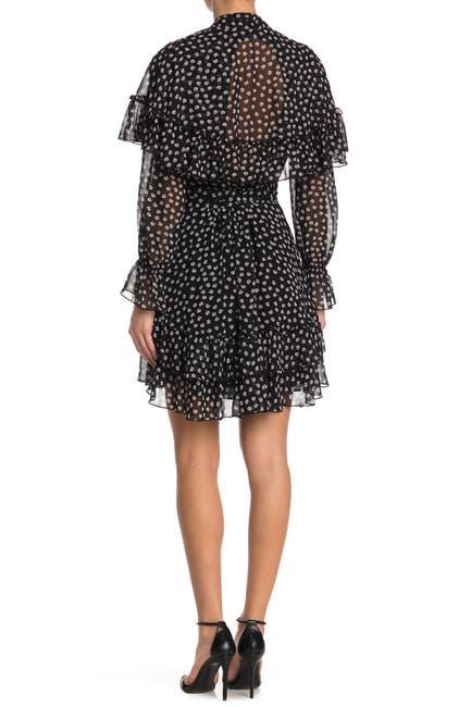 Image of Diane von Furstenberg Martina Dot Print Dress
