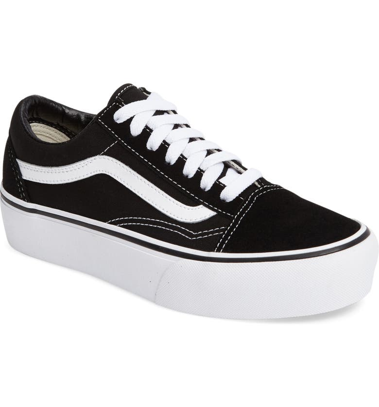 ededff4d6b Old Skool Platform Sneaker, Main, color, BLACK/ WHITE