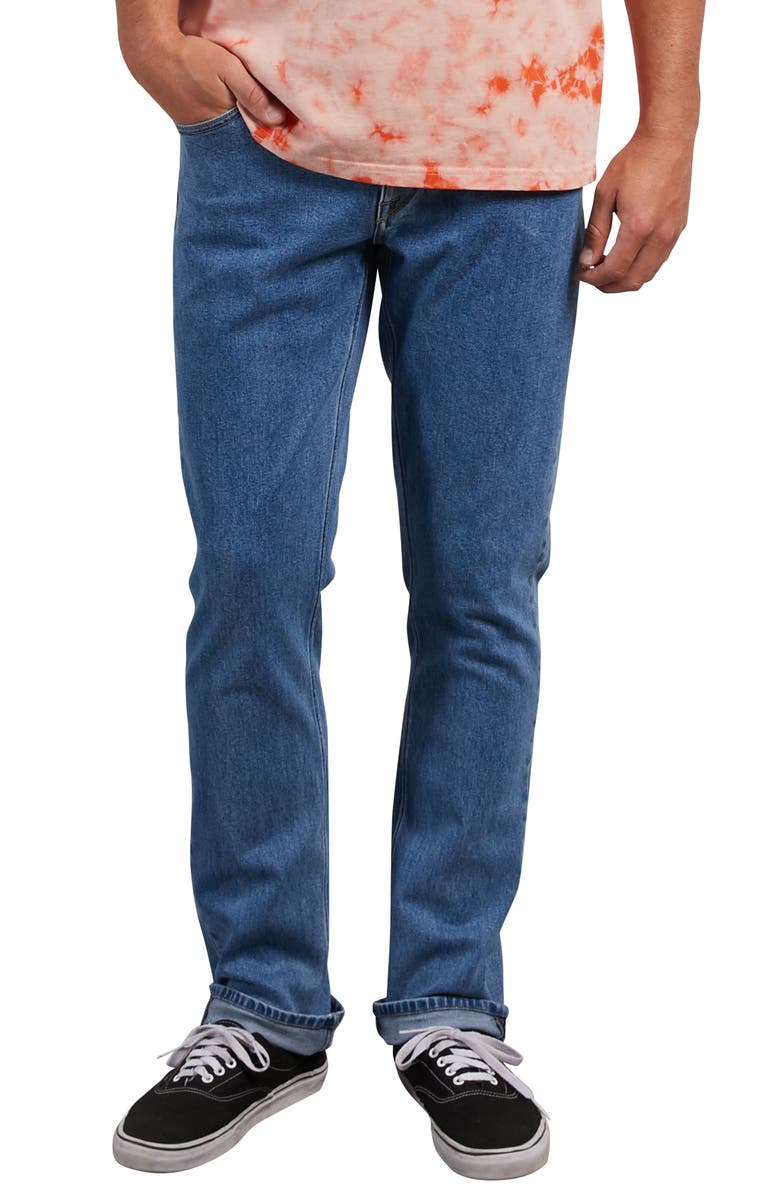 VOLCOM 'Vorta' Slim Fit Jeans, Main, color, STONE BLUE