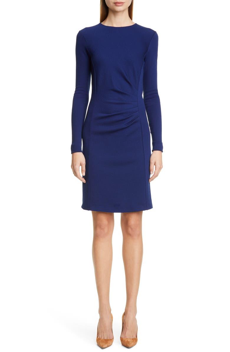 MAX MARA Colimbo Long Sleeve Sheath Dress, Main, color, 400