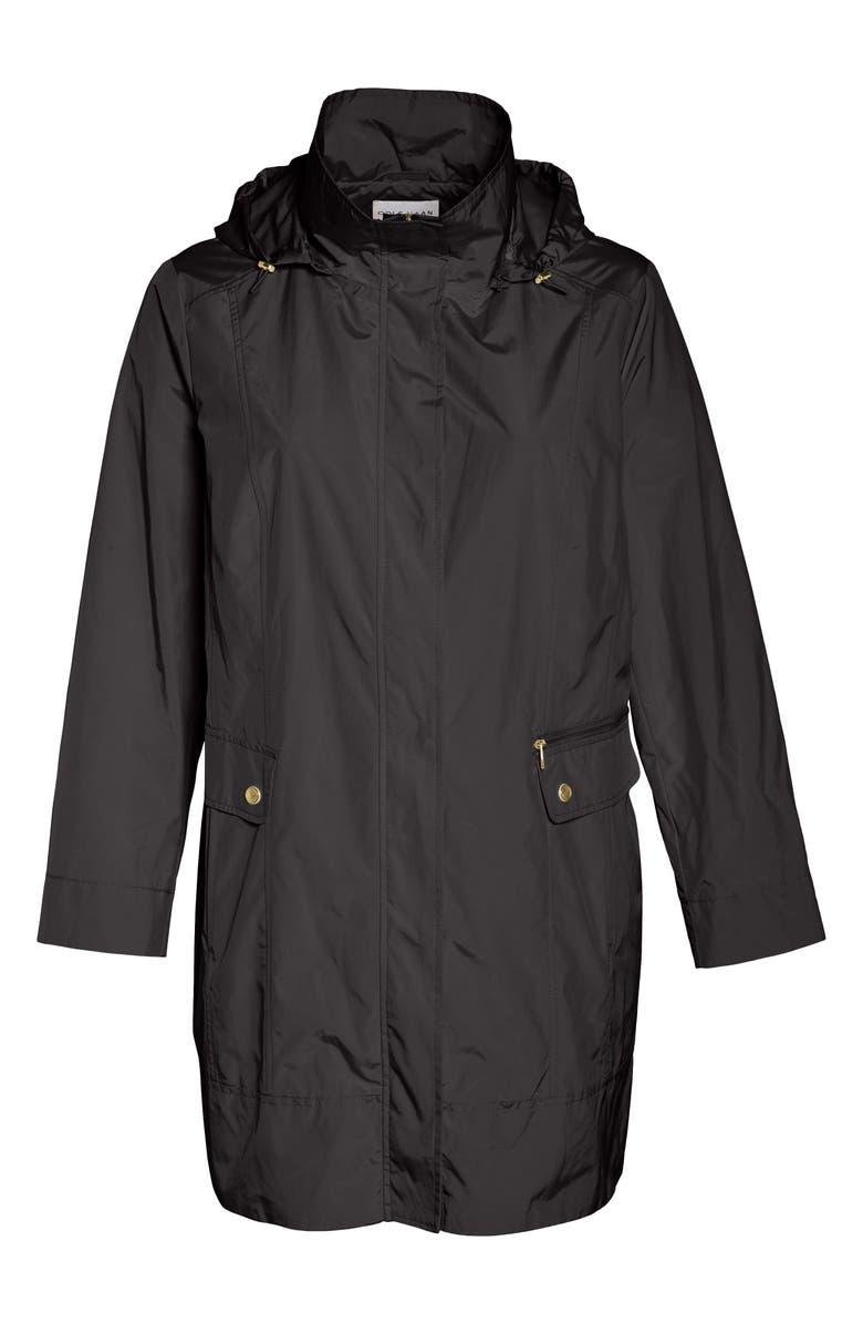 COLE HAAN SIGNATURE Cole Haan Water Resistant Rain Jacket, Main, color, BLACK