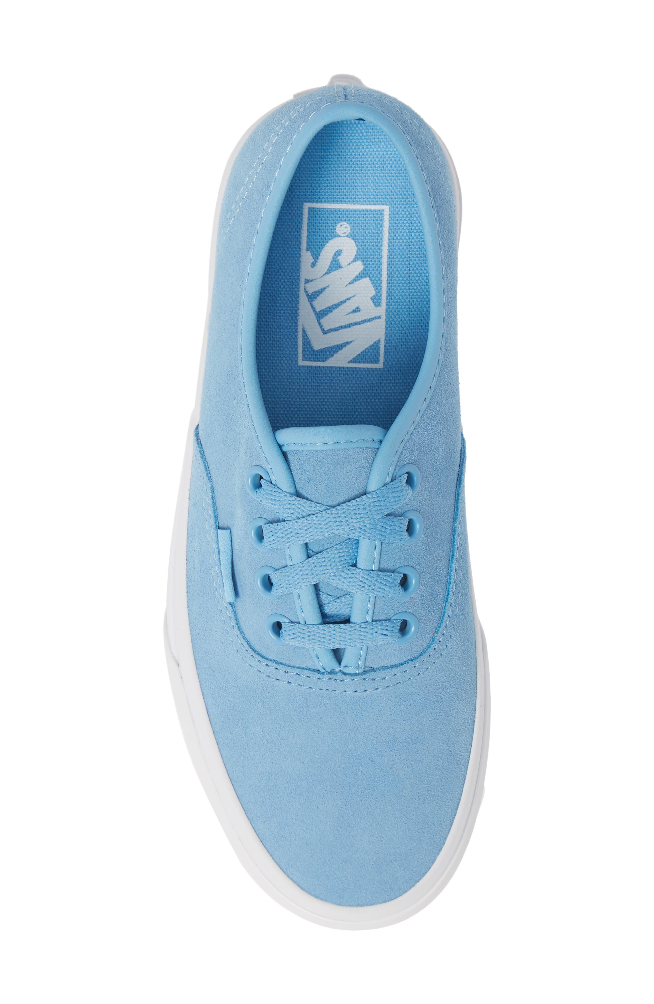 ,                             Authentic Soft Suede Sneaker,                             Alternate thumbnail 5, color,                             ALASKAN BLUE/ TRUE WHITE
