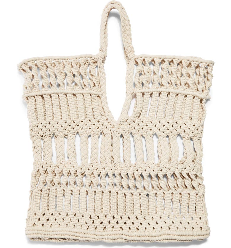 TOPSHOP Shake Woven Tote Bag, Main, color, 250