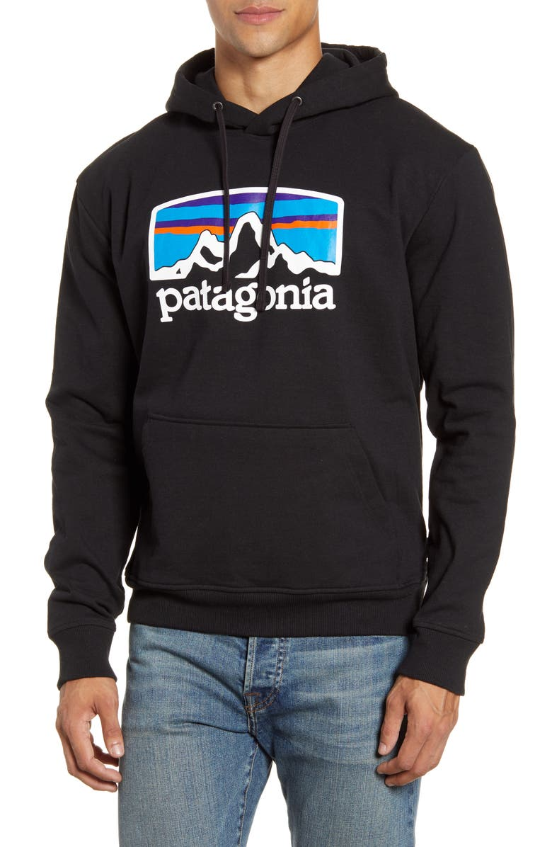 PATAGONIA Fitz Roy Horizon Uprisal Hoodie, Main, color, BLACK