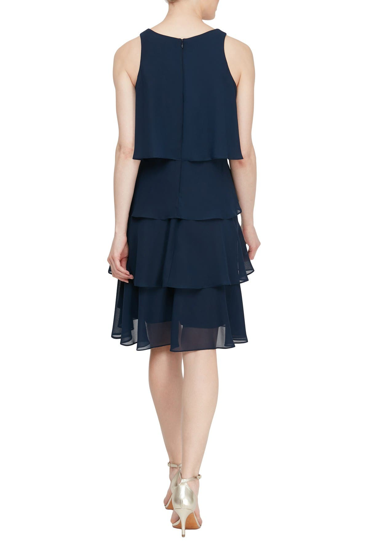 Image of SLNY Tiered Ruffle Dress