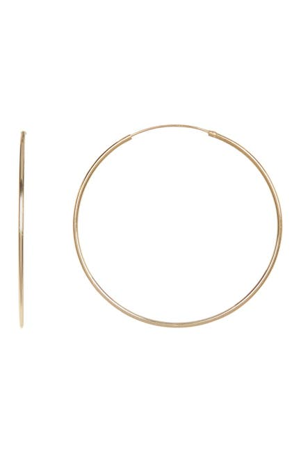 Image of Candela 14K Yellow Gold Plated Sterling Silver 45mm Hoop Earrings