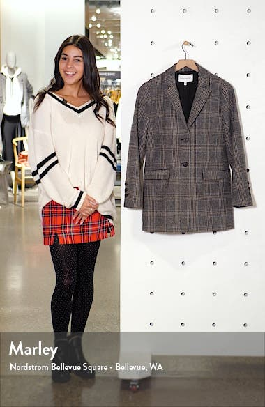 Lillie Check Boyfriend Blazer, sales video thumbnail