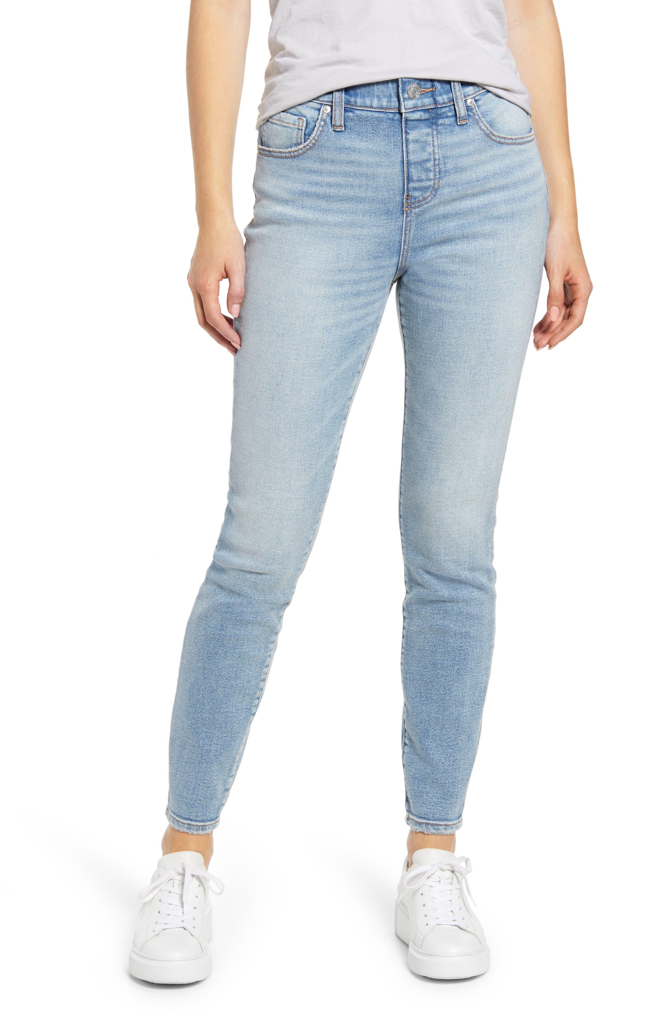 Valentina Pull-On High Waist Ankle Skinny Jeans