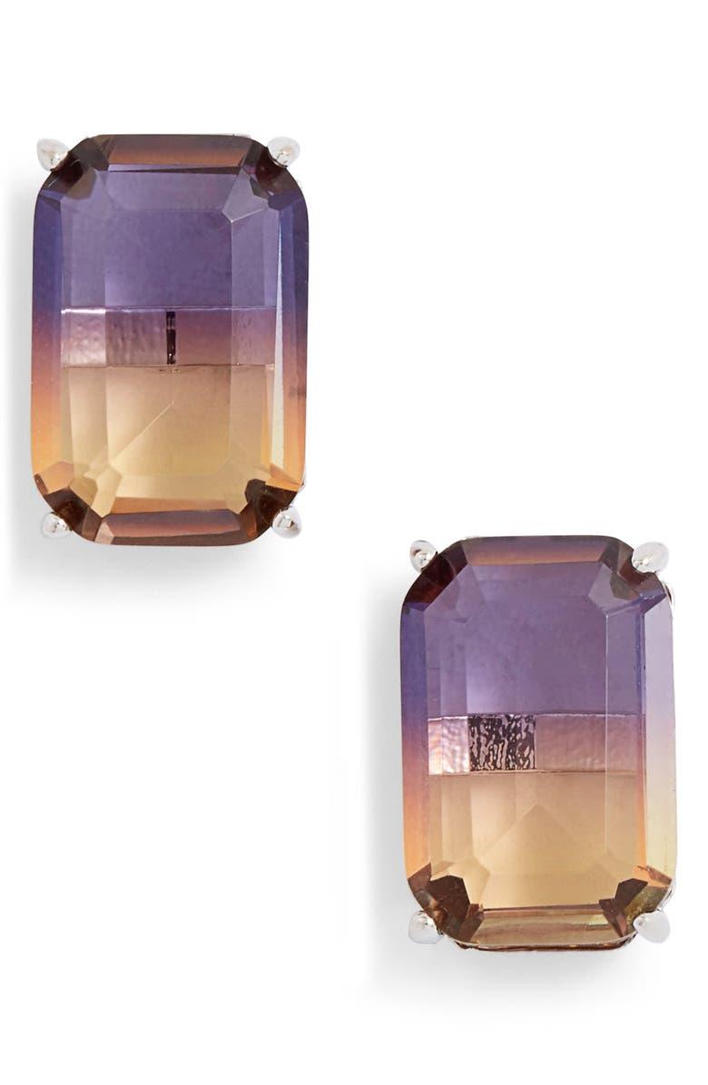 KATE SPADE NEW YORK geo gems stud earrings, Main, color, LILAC MULTI