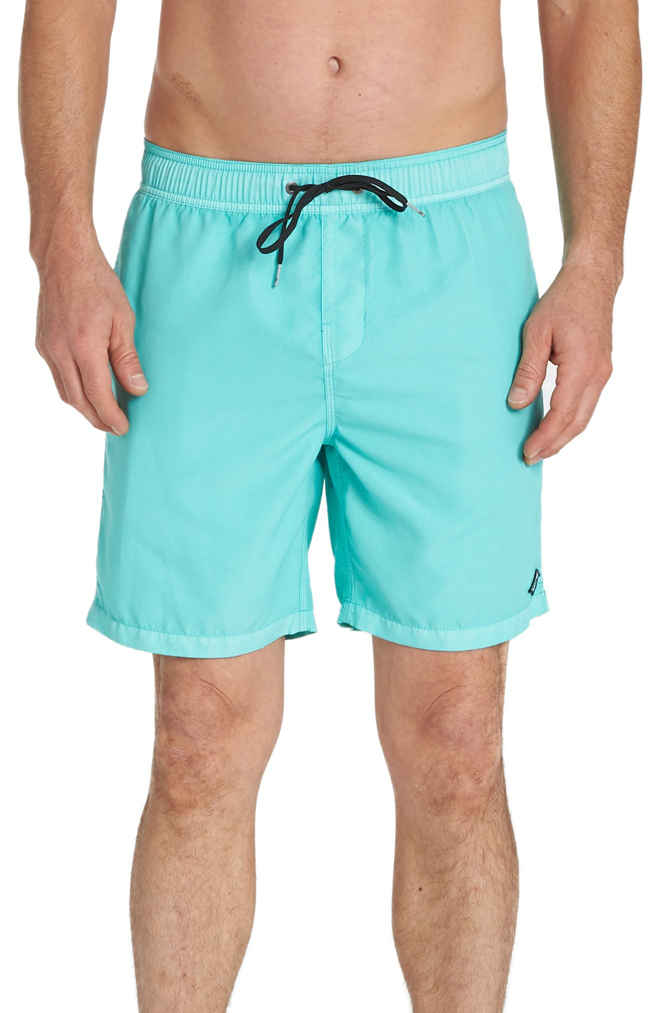 Billabong All Day Layback Swim Volley Trunks, Blue/green