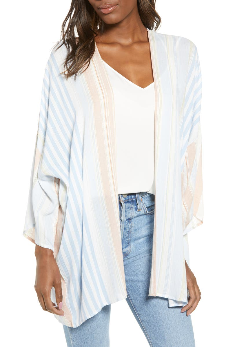 BISHOP + YOUNG Serenity Stripe Crepe Jacket, Main, color, 401