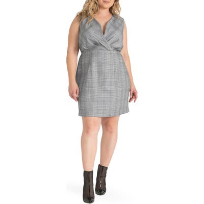 Plus Size Standards & Practices Puffy Sleeveless Dress, Black
