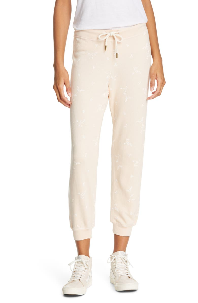 THE GREAT. The Cropped Sweatpants, Main, color, POWDER