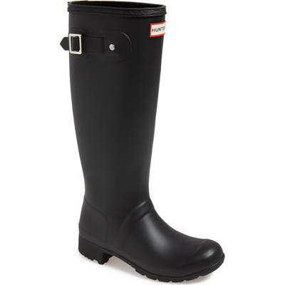 Hunter Tour Packable Waterproof Rain Boot, Black