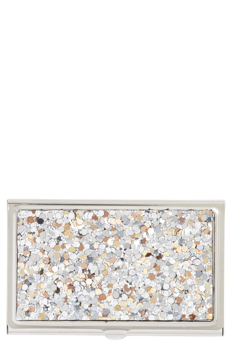 NORDSTROM Glitter Card Holder, Main, color, 040
