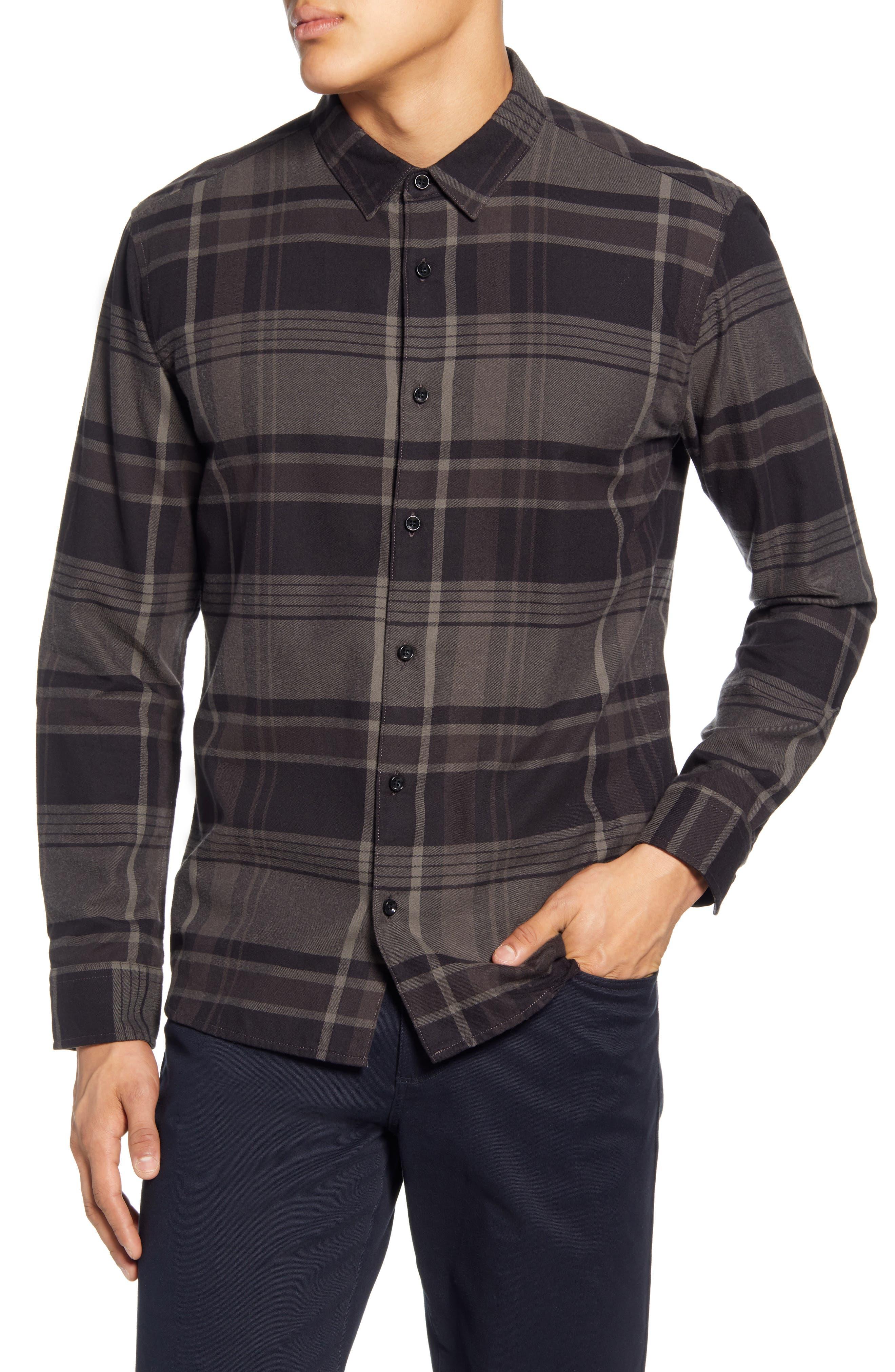Image of BALDWIN Arias Slim Fit Plaid Button-Up Shirt
