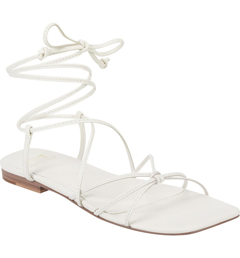 MARC FISHER LTD Marina Lace-Up Sandal, Main, color, CHIC CREAM LEATHER