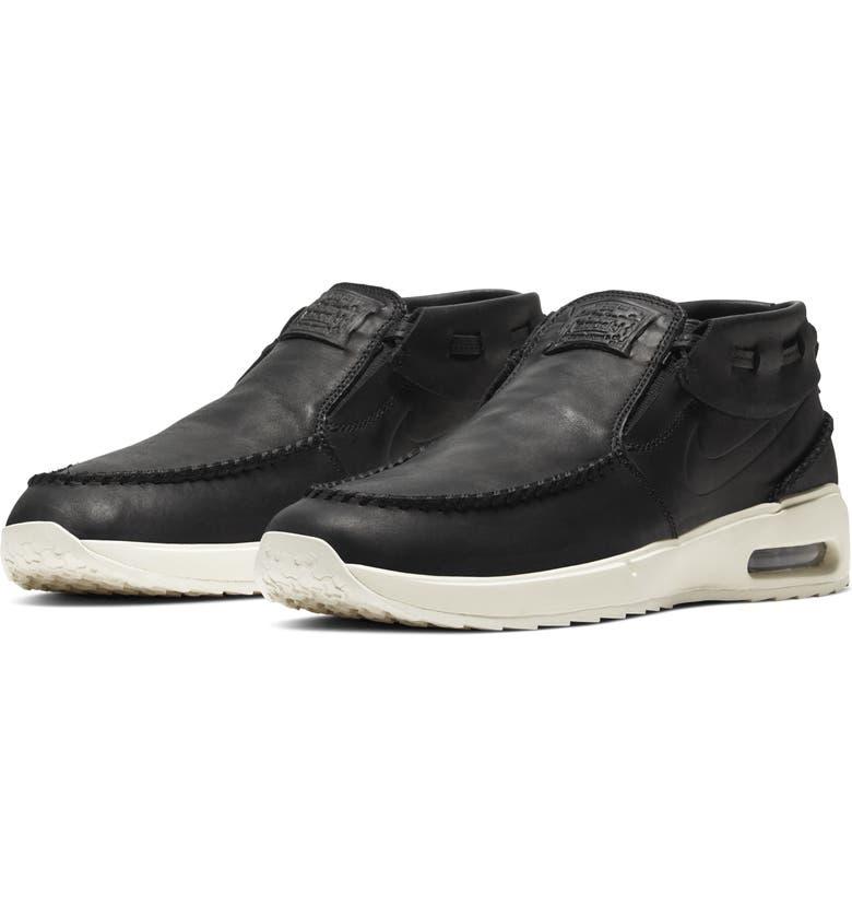 NIKE SB Air Max Stefan Janoski 2 Moc Sneaker, Main, color, BLACK/ PALE IVORY/ BLACK