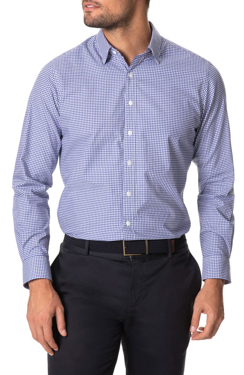 RODD & GUNN Montello Gingham Button-Up Shirt, Main, color, ROYAL