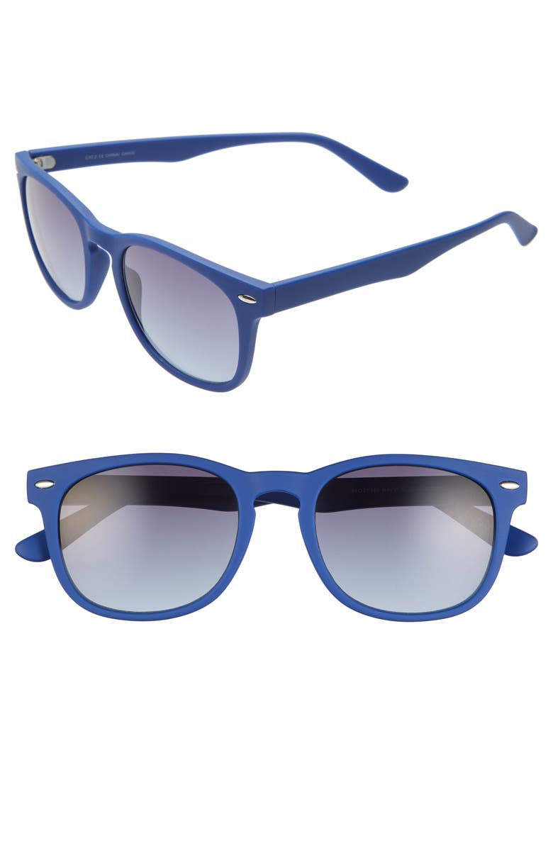 BP. Austin 54mm Sunglasses, Main, color, NAVY/ BLUE GRADIENT