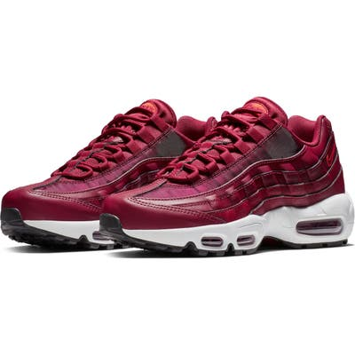 Nike Air Max 95 Running Shoe, Red