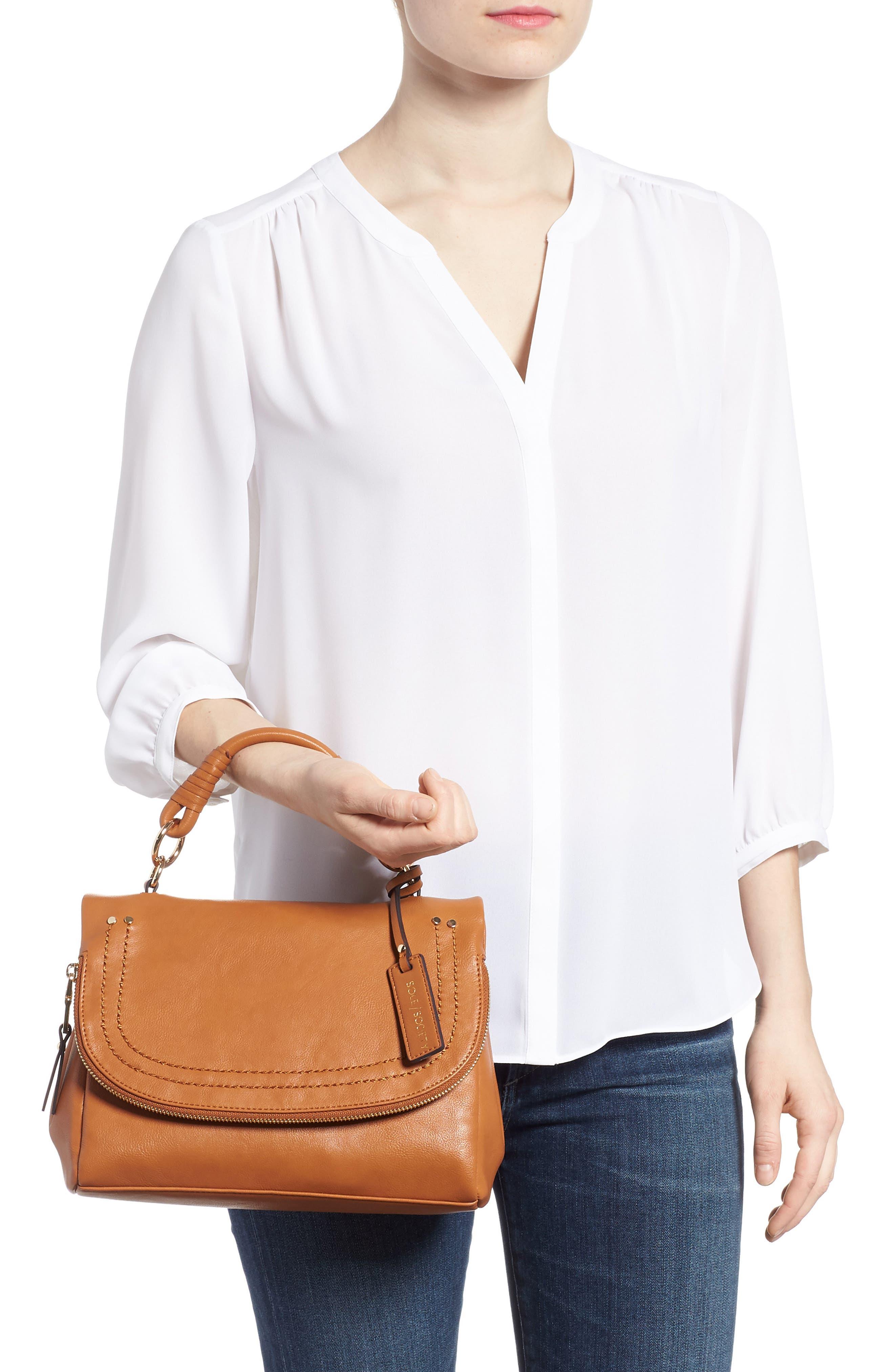 ,                             Top Handle Faux Leather Crossbody Bag,                             Alternate thumbnail 8, color,                             230