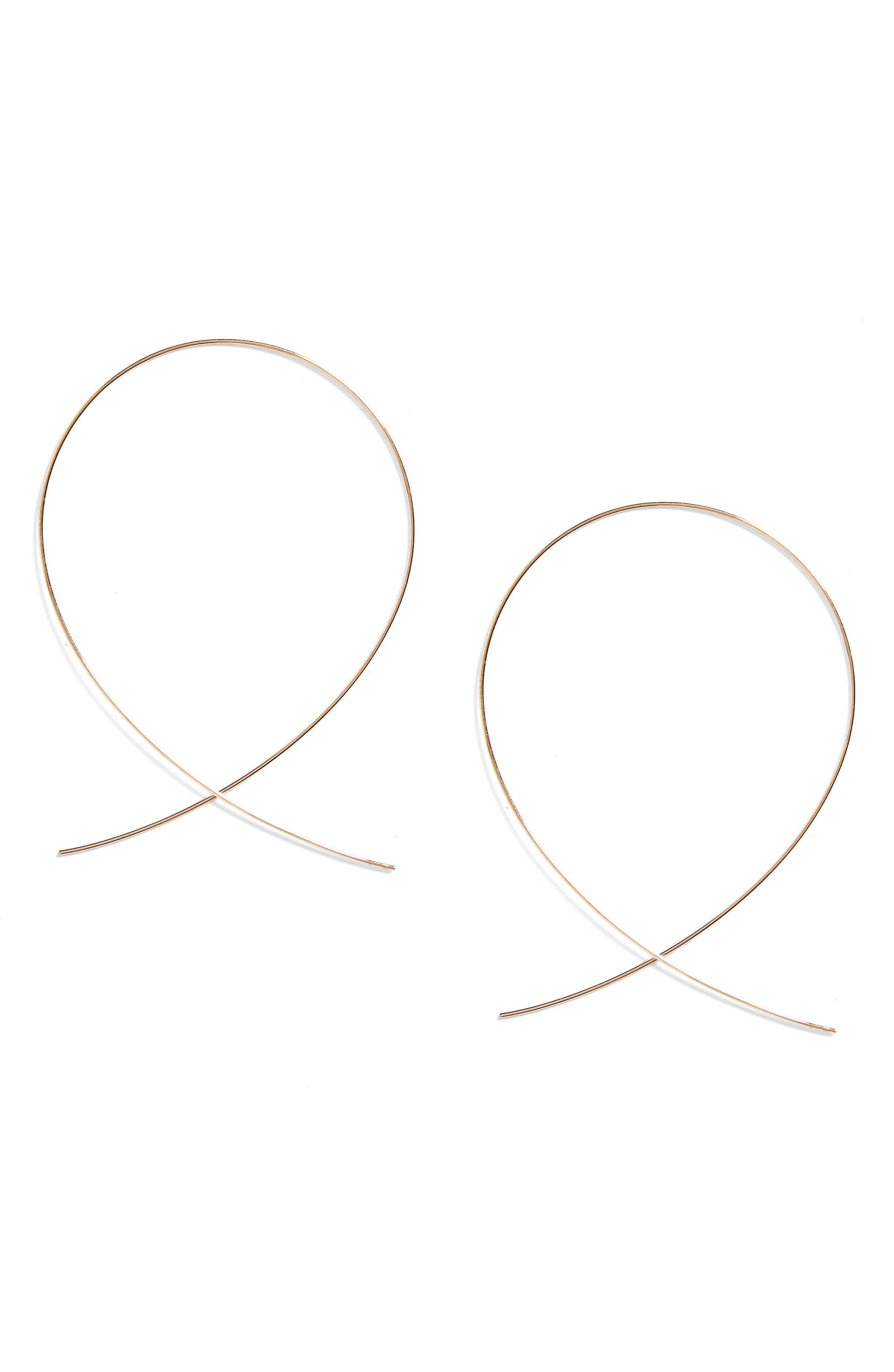 'Large Upside Down' Hoop Earrings