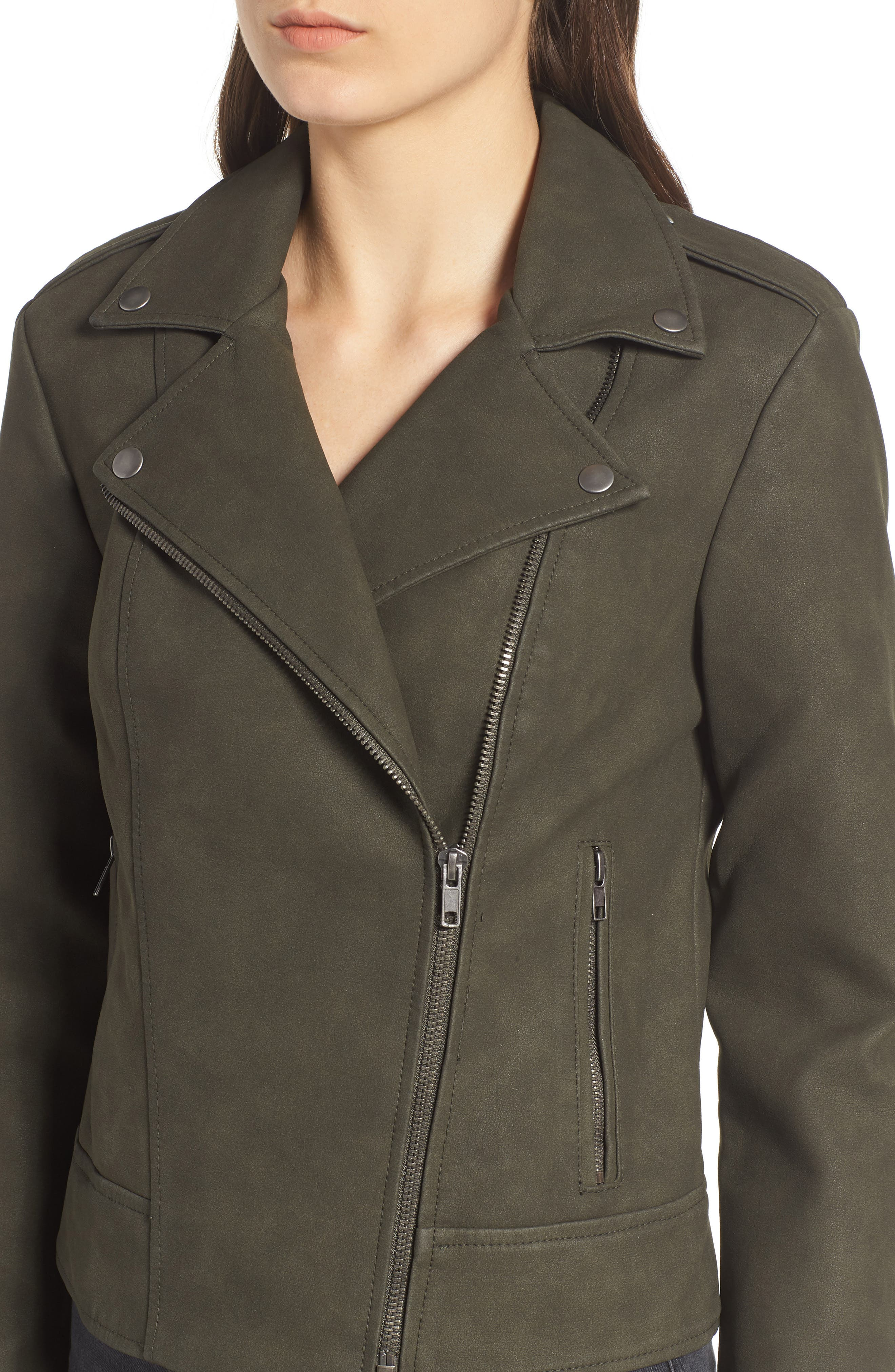 ,                             Easy Rider Faux Leather Moto Jacket,                             Alternate thumbnail 17, color,                             301