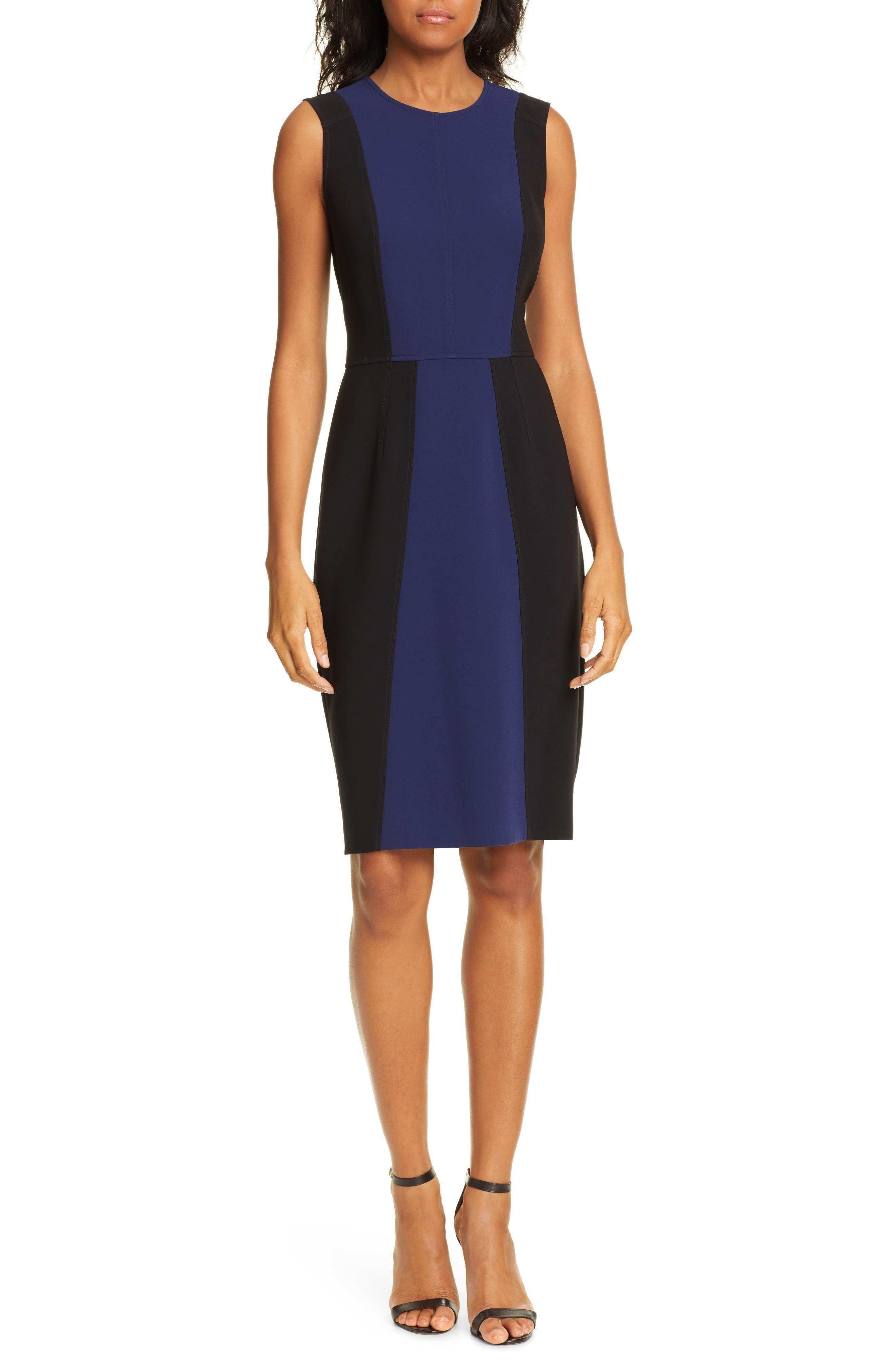 Dvf Calliope Sheath Dress, Black